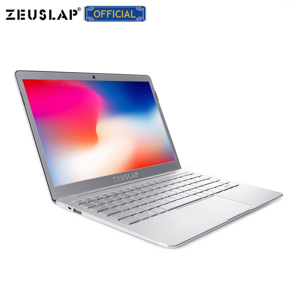 ZEUSLAP 8 GB de Ram + 512 GB SSD Quad Core CPU do Windows Sistema 10 13.3 polegada 1920*1080 P full HD IPS Ultrafinos Laptop Computador Notebook