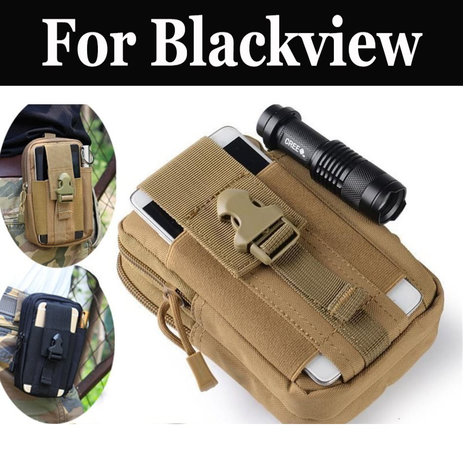 Outdoor Tactical Holster Military Hip Waist Belt Bag Wallet For <font><b>Blackview</b></font> R6 Lite <font><b>P6000</b></font> P2 Lite BV7000 <font><b>Pro</b></font> A20 S6 BV9600 <font><b>Pro</b></font> image