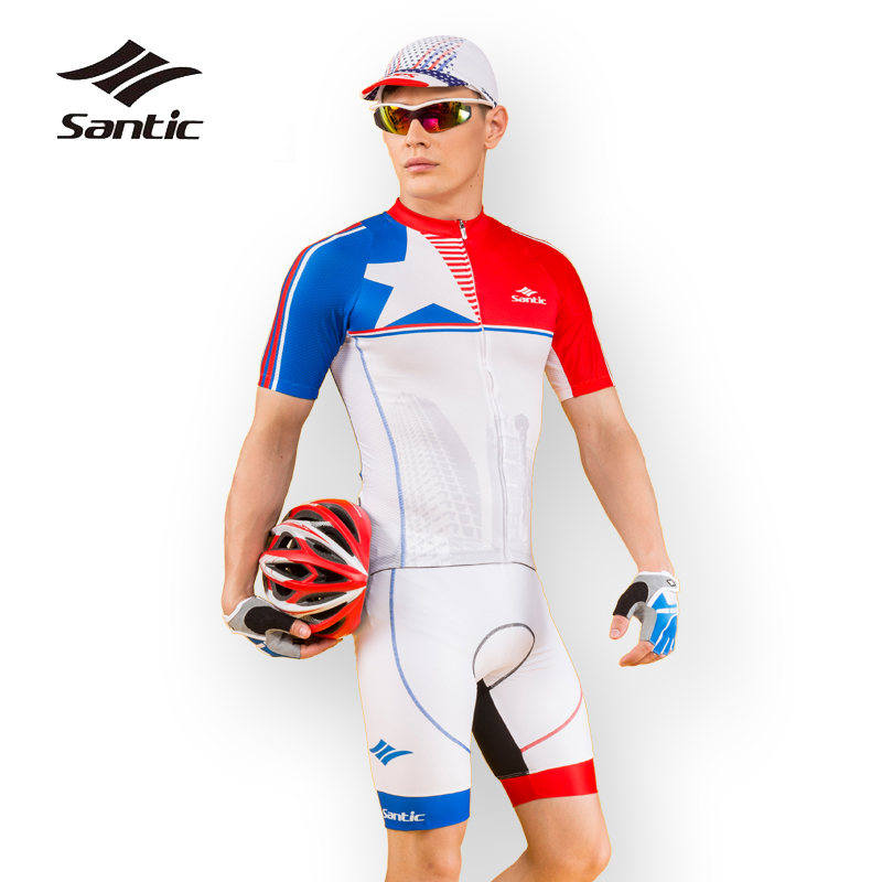 Santic 2018 Pro Racing Team Cycling Sets Short Sleeve Bicycle Jersey Maillot Ropa Ciclismo Breathable Mountain Bike Clothing 2017 new pro team cycling jerseys bike clothing ropa ciclismo breathable short sleeve 100