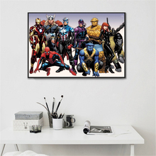 Marvel Poster Canvas Abstract Paint Home Decor – Burgundy