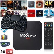 New updated MXQ PRO 4K Amlogic S905W Quad Core 64Bit Android 7.1 1GB RAM 8GB ROM Android TV Box 2.4G WIFI HD Smart Media Player
