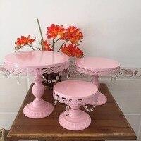 Uno collega basamento della torta basamento del bigné di nozze set, cookie set vassoio dell'esposizione, rosa colori per la scelta