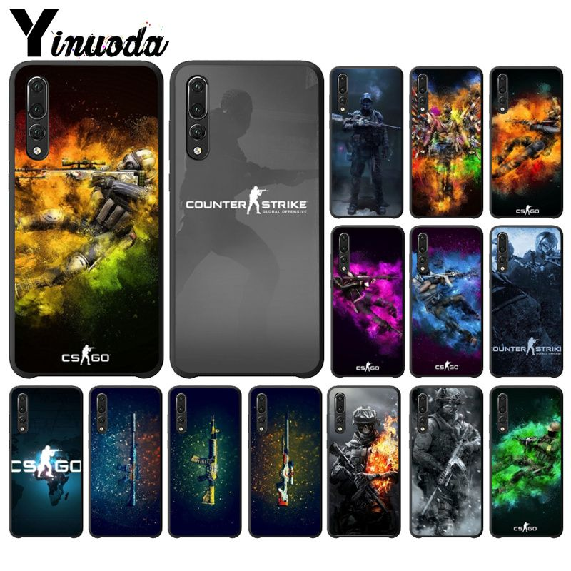 Cellphones & Telecommunications Conscientious Yinuoda Cs Go Gun Game Smart Cover Black Shell Phone Case For Huawei Mate10 Lite P20 Pro P9 P10 Plus Mate9 10 Honor 9 10 View 10 Half-wrapped Case
