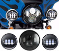7 Round Harley Daymaker led headlight and 4 1/2 inch Auxiliary passing lamps 4.5'' led fog light for Harley Davidson Motorcycle