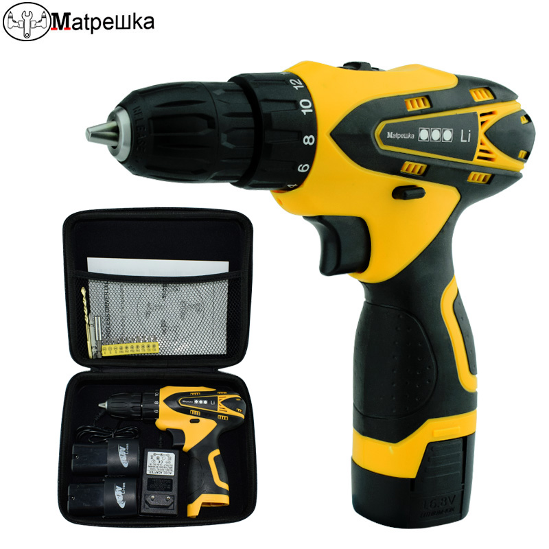 16.8V Mini electric drill Electric Screwdriver rechargeable battery power tools Have Power display 2 battery free shipping brand proskit upt 32007d frequency modulated electric screwdriver 2 electric screwdriver bit 900 1300rpm tools