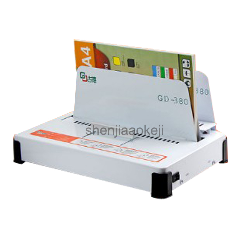 Hot melt binding machine GD380 contract documents A4 book envelope automatic glue  bookbinding machine 100w machine