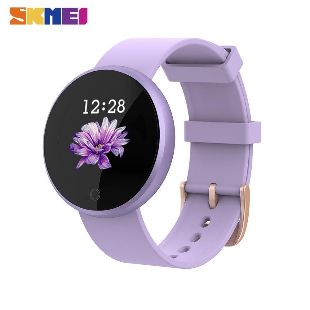 Mulheres SKMEI Relógio Inteligente Superior da Frequência Cardíaca Lembrete Período Feminino Senhoras relógio De Pulso Do Esporte Relógios reloj Smartwatch Relógio inteligente B36