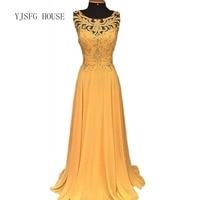 Women Dress 2019 Vestidos Formal Long Ball Gown Party Prom Wedding Bridesmaid Yellow Dress Beading Hollow Out Maxi Hot Dress