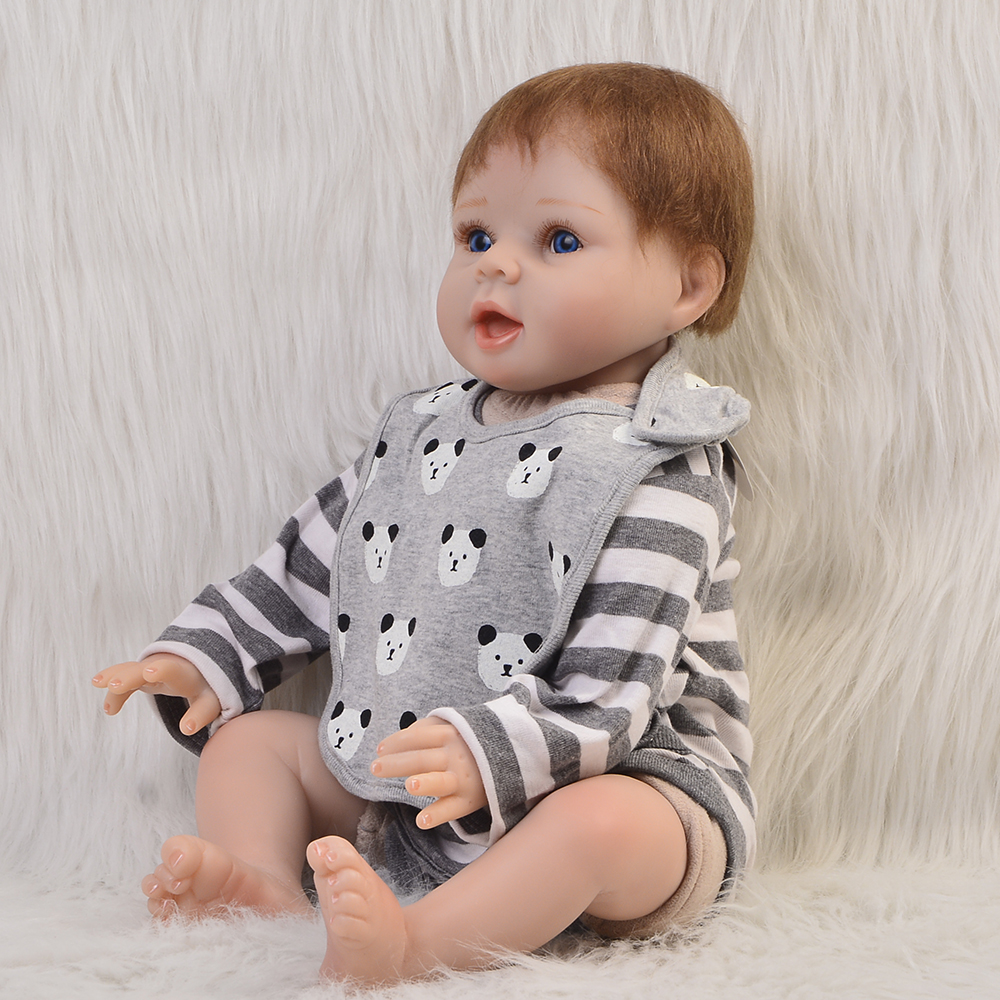 Realista Reborn Dolls Babies 22 Silicone Vinyl Cute Boy Gifts Cloth Body Newborn Doll Fa ...