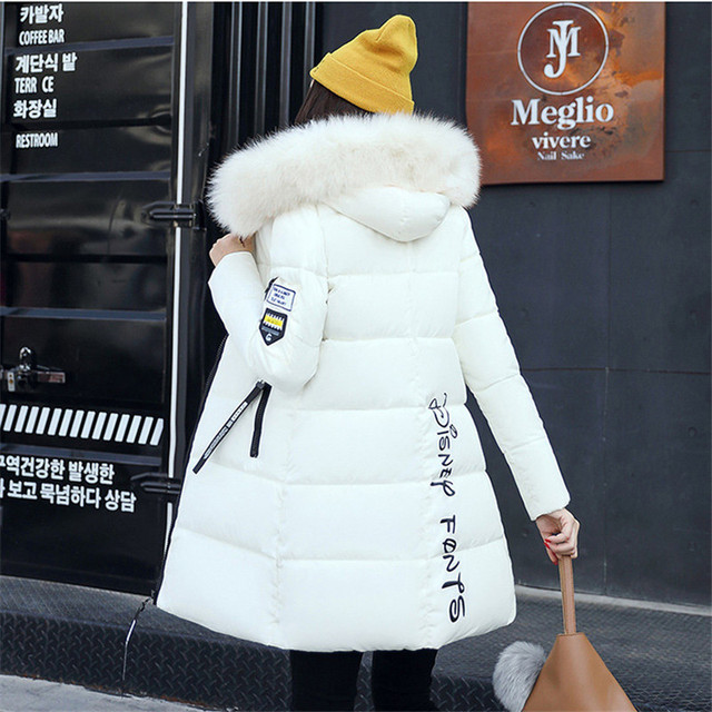 0f7ee56c4 Women's Winter Jackets Coats 2018 Parkas For Women 5 Colors Wadded Jackets  Warm Outwear With a Hood Large Faux Fur Collar A865
