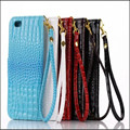 Para iphone 7 plus couro case new crocodile pattern virar carteira de couro case para iphone 7 plus case phone case