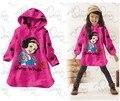 Bebés dos desenhos animados princesa neve characer camisolas primavera hoodies crianças roupas de bebê