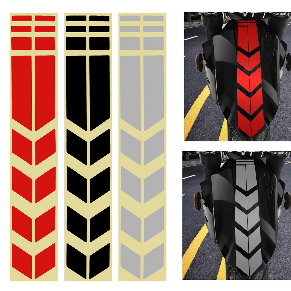 Motorcycle Reflective Sticker Decoration Sticker On Bike Bicycle Fender Motorcycle Accessories Moto Stickers And Decals