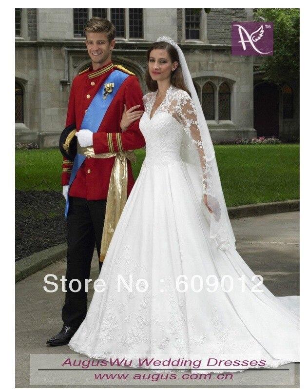 Aliexpress.com : Buy AWB3353 Best Beautiful Long Sleeves V neck Lace ...