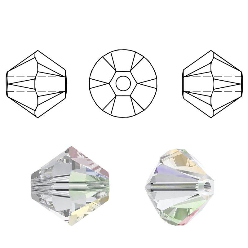 Visoka kvaliteta 6mm Bicone perle Crystal Nakit perle čari modne - Modni nakit - Foto 2