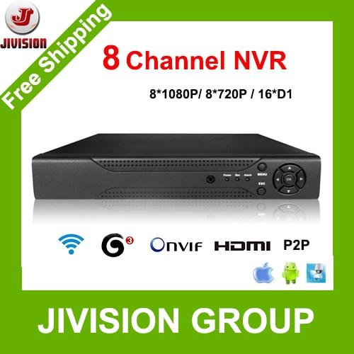 <b>Onvif</b> 8-канальный <b>NVR 8ch</b> P2P <b>8ch</b> 1080 P видеорегистратор ...