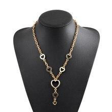 Плавающей медальон горный хрусталь сердца ожерелье ювелирные изделия свитер цепи ожерелье для женщин