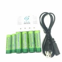 Poweful 6 Unids Etinesan NiZn 1.6 V AA 2500mwh Ni-zn de la Batería Recargable + 4 ranuras de NiMH AA AAA set Cargador de baterías