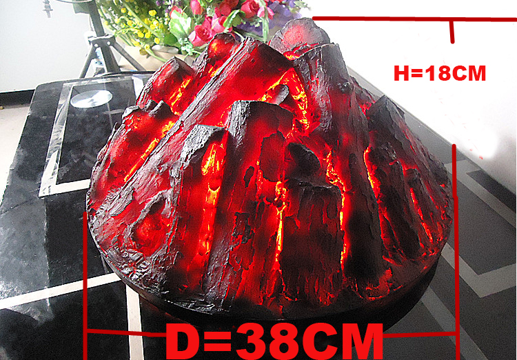 Round Electric <font><b>fireplace</b></font> simulation charcoal fake firewood Bonfire shoot props museum hall KTV decorations art craft party