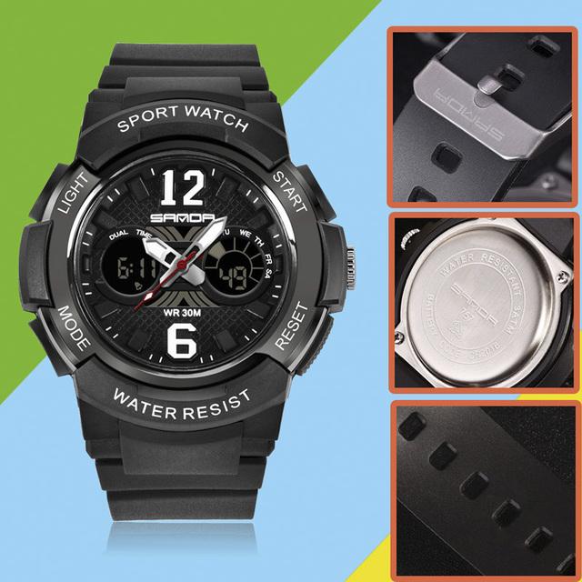 SANDA Brand Electronic Sport Children Watch Kids Watches Girls Boys Clock Child LED Digital Wristwatch for Girl Boy Surprise Gif