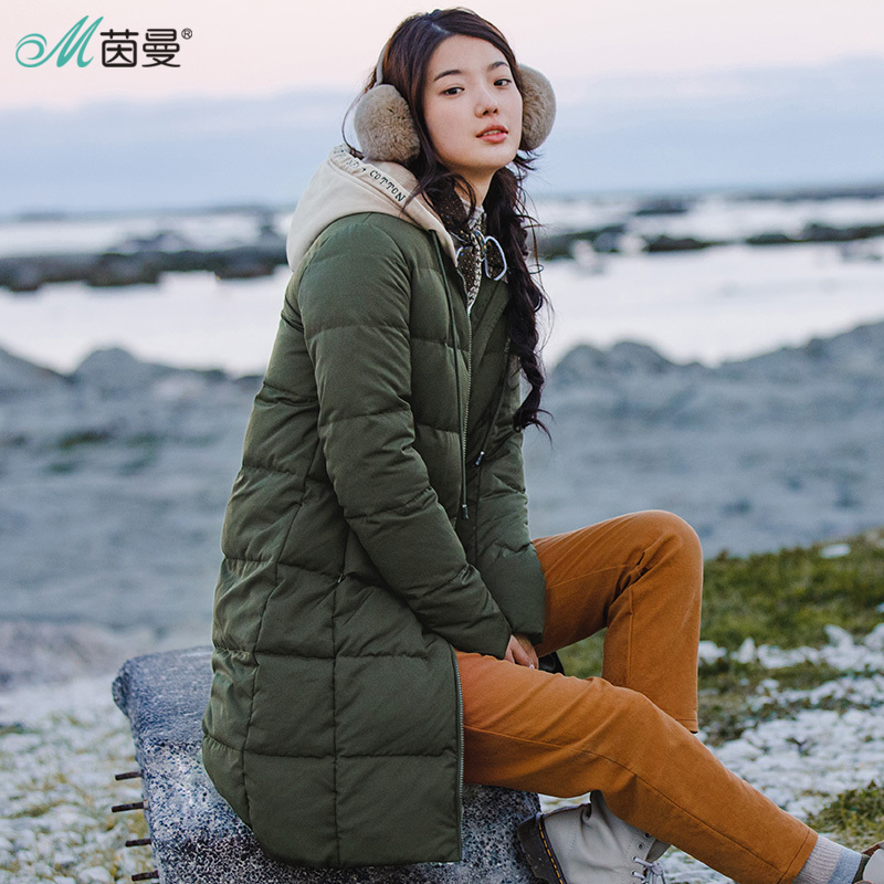 INMAN 2017 Long Thick Duck Down Women Dress Down Jacket Winter Duck Down