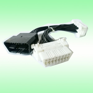 Image 1 - 2pcs 16 Pin Extended OBD II Splitter Adapter Male to Dual Female Y Connector Cable OBD2 extender interface line