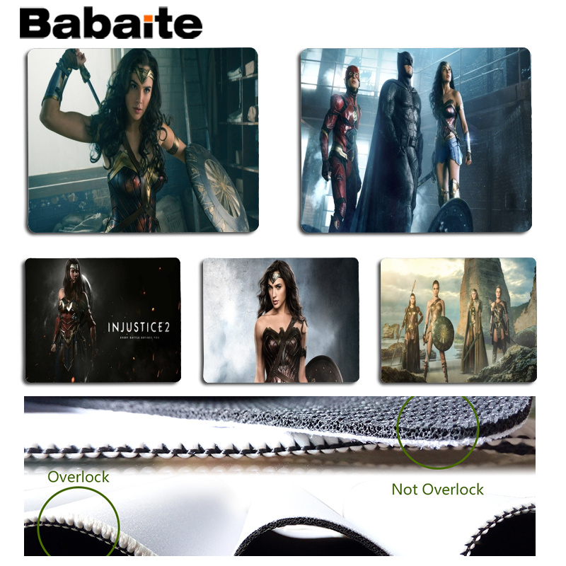 Babaite Wonder Woman Customized laptop Gaming mouse pad Size for 25x29cm Gaming Mousepads