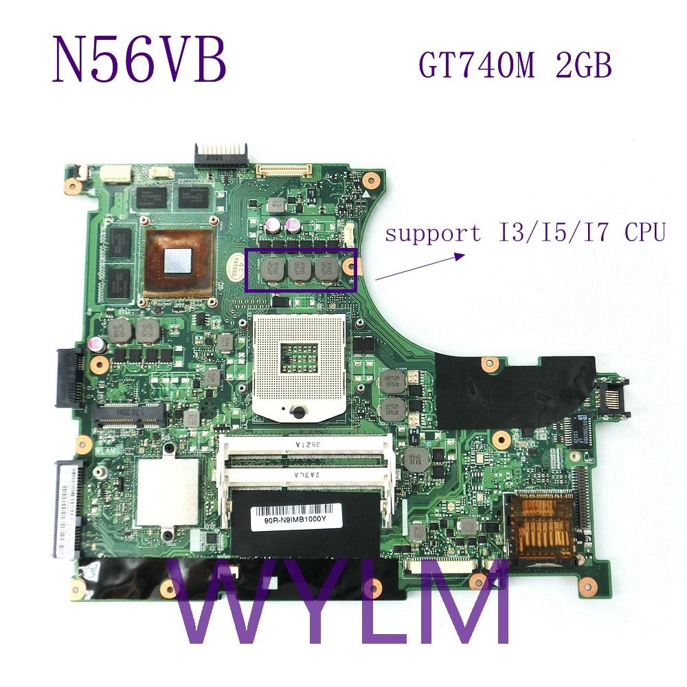 N56VB GT740M N14P-GE-OP-A2 2G mainboard REV2.3 For ASUS N56VB N56VM N56VZ N56VJ N56VV Laptop motherboard 100%Tested Working Well 100% new n14p ge op a2 n14p ge op a2 bga chipset