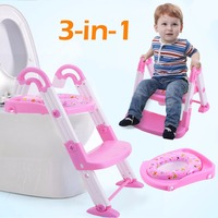Giantex 3 In 1 Baby Potty Training Toilet Chair Safety Seat Step Ladder Trainer Toddler Adjustable