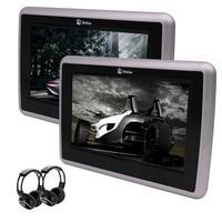 Eincar 2 шт. 10,1 дюймов HD ЖК экран Регулируемый автомобильный DVD CD плеер подголовник монитор сенсорные клавиши поддержка 1080 P видео + ИК наушники