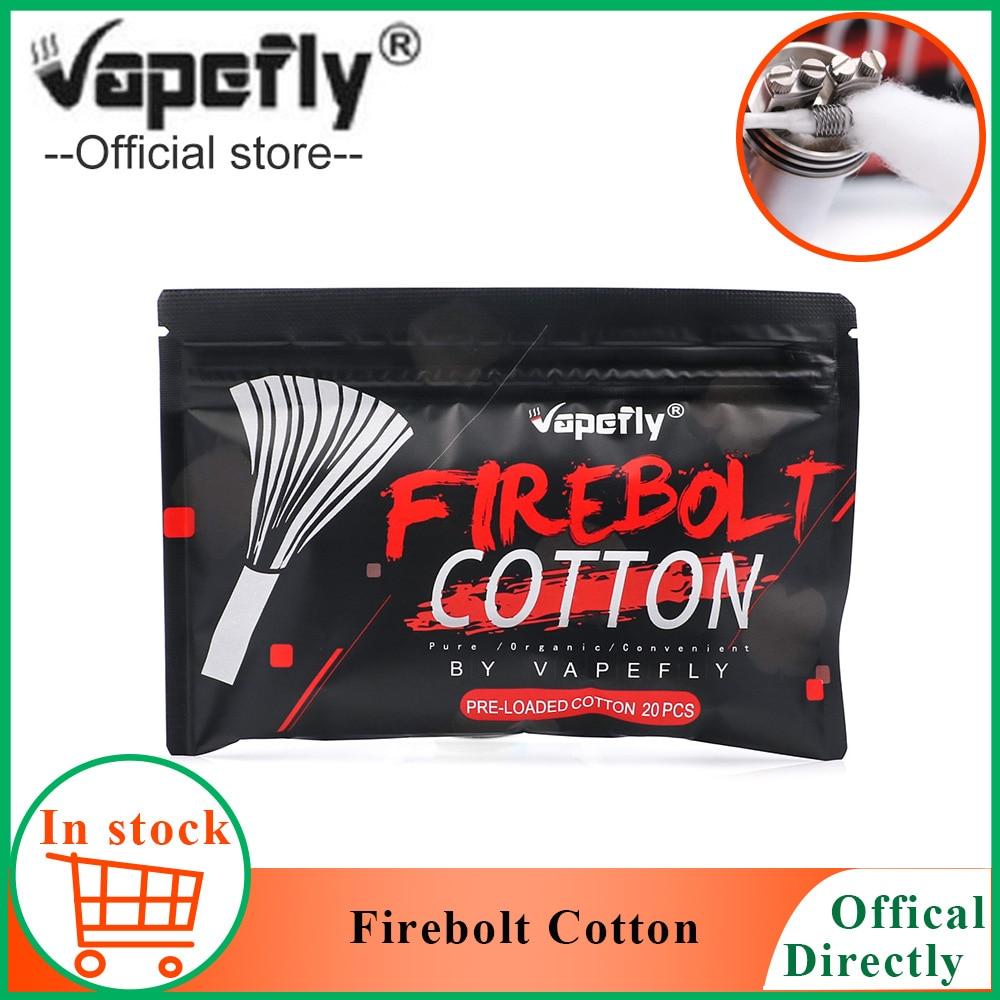 20pcs/pack Vapefly Firebolt Cotton for E cigarette rebuildable RDA RBA Coil organic Cotton Vape accessories vs CLOUDS Cotton