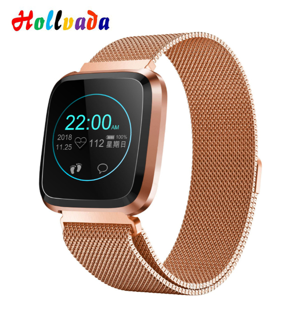 Hollvada L18 Smart Watch Waterproof Message call reminder Smartwatch men Fashion Fitness Tracker Heart Rate Blood Pressure watch