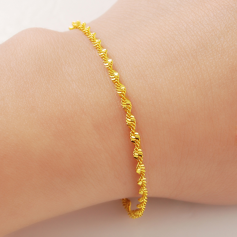 Lose money promotion sale Free shipping, chain bracelet, Wholesale  Fashion  Jewelry ,24K yellow    Bracelet