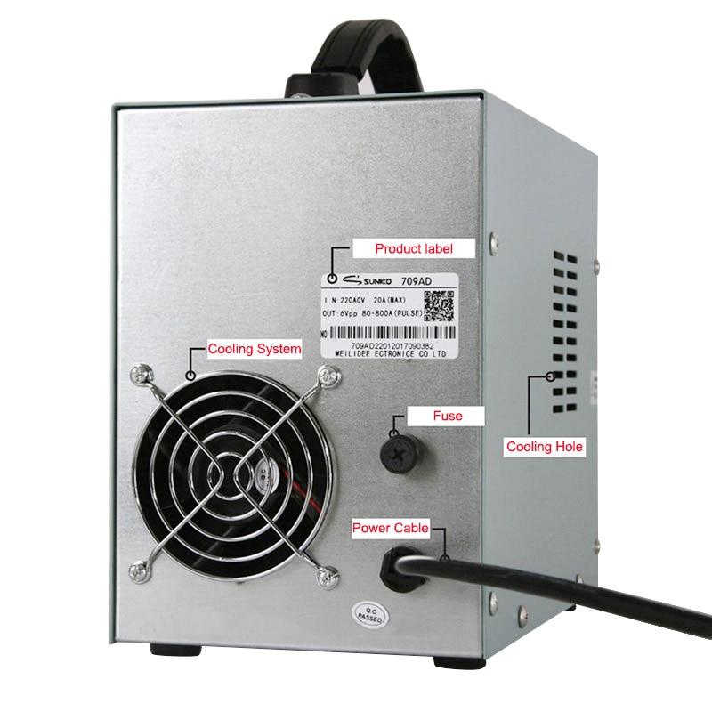 SUNKKO 709AD aukšto impulso suvirintojas 2,2 kW galios - Suvirinimo įranga - Nuotrauka 4