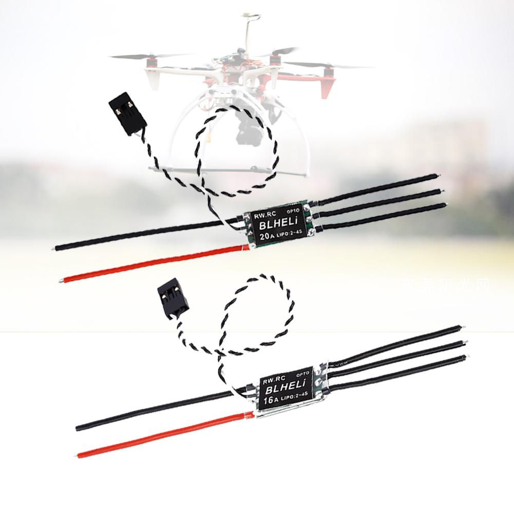 2-4S Lipo RW.RC BLHeli Program OPTO Mini ESC for Multirotor Drone QAV250 Aircrafts Quadcopter Electronic Speed Control A676 4pcs lot 16a 20a 30a mini blheli 14 2 opto mini 2 4s esc for qav250 voor diy multicopter quadcopter rc 250 alien drone wholesale