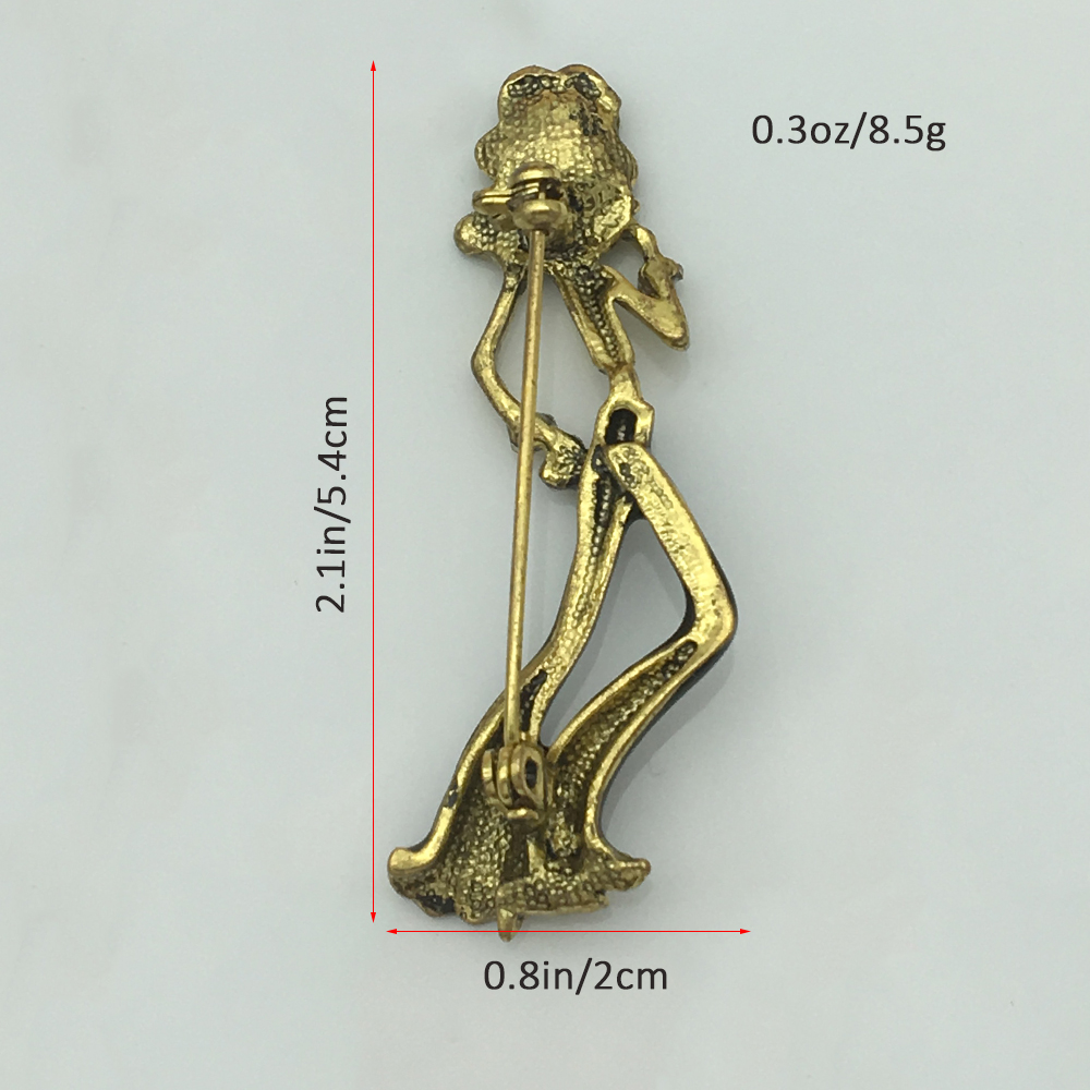 Earofcorn Retro Girl Brooches Fashion Simple Crystal Human Form Brooches Collar Pin Clothing Jewelry in Brooches from Jewelry Accessories