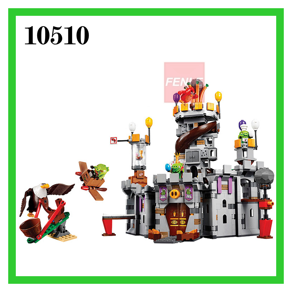 879pcs Birds No 10510 King Pigs Castle boys and girls Building Bricks Blocks Sets Education toys