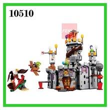 879 قطعة الطيور No.10510 الملك الخنازير القلعة الفتيان والفتيات قوالب بناء كتل مجموعات ألعاب تعليمية للأطفال متوافق 75826
