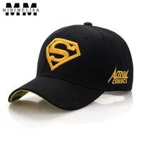 2018 Superman Baseball Cap Men S Outdoor Sports S Letter Cap Diamond Hats Adjustable Unisex Caps