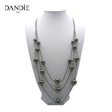 Dandie Fashionable Layered Hematite CCB Bead Necklace, New Ffashion Jewelry, Chic Style Necklace все цены