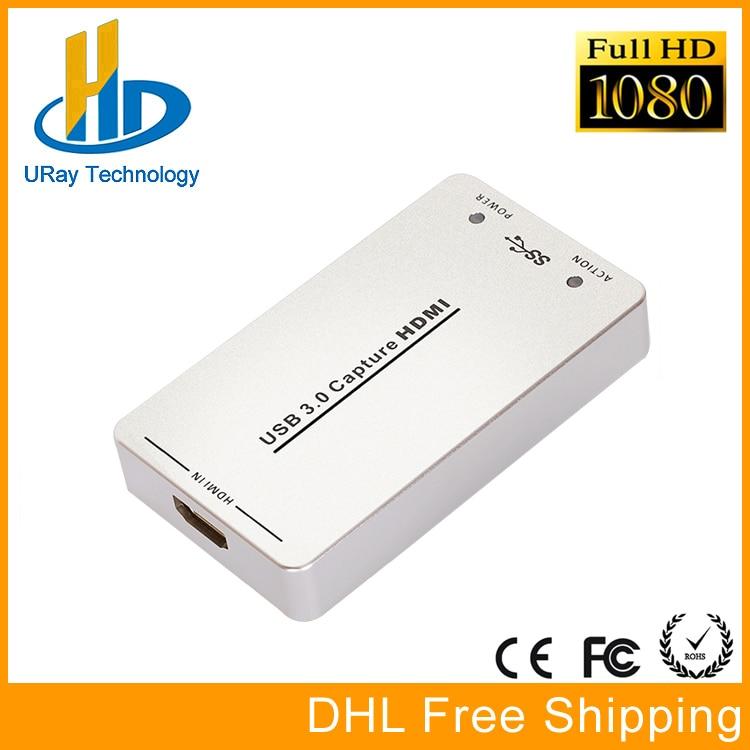 1080P 60fps UVC Free Driver HDMI Video Capture Card / Grabber USB Support USB3.0 / USB2.0 Capture HDMI For Linux, Windows, OS X пончо gap gap ga020egvox27