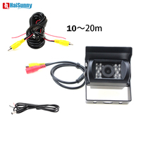 HaiSunny For Trucks Bus Car Parking Rear View Camera HD CCD With 10M 15M 20M Video Cable Optional Waterproof 18 IR Night Vision