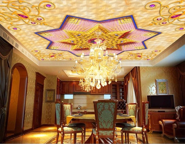 Interieur Slaapkamer Behang : Opluchting goud behang interieur plafond d behang woonkamer