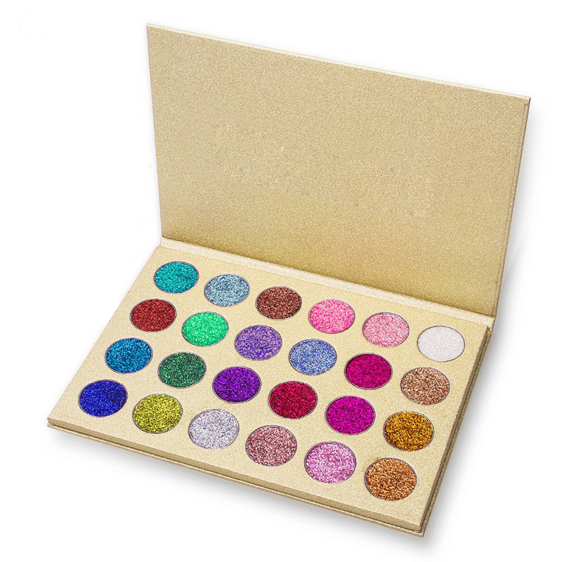 New 24 Colors Cosmetic Makeup Pressed Glitter Eyeshadow Pallete Brand New Diamond Glitter Foiled Eye Shadow Make Up Palette