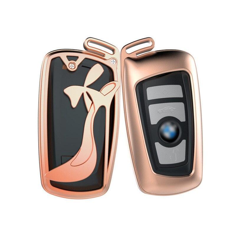 Boîtier de clé de voiture en alliage d'aluminium pour BMW série 3 5 525li 320X1X3X4X6 accessoires GT femmes cadeaux de luxe conception de talons hauts