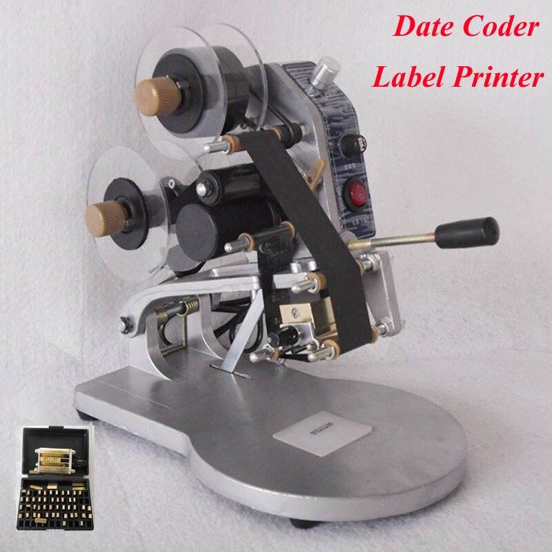 Hot! 1pc Manual Hot Foil Stamp Date Coder Label Printer Ribbon Coding Machine DY-8  semi automatic electric hot stamp ribbon coding printer machine coder hp 241b