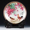 Декоративная керамическая тарелка в современном стиле с петухом и личи  декоративная тарелка в китайском стиле  деревянный базовый набор ф...