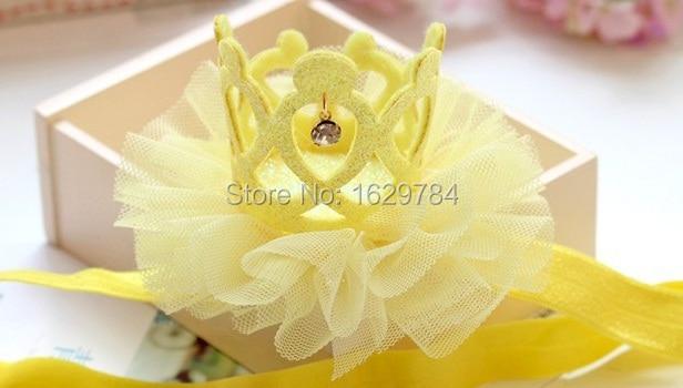 10st Mode Glitter 3D Gemstone Cutout Tiaras Hairbands Solid Söta - Kläder tillbehör - Foto 4
