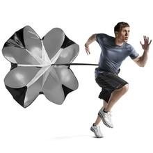 1Pcs Men Women Speed Resistance Training Parachute Running Chute Soccer Football Umbrella Black j2