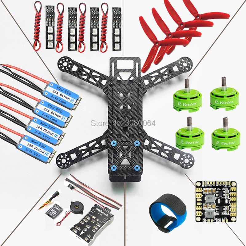 QAV280 Quadcopter Frame Kit+Pixhawk PX4 Autopilot PIX 2.4.8 Flight Controller+20A ESC BLHeli_S+RV2306 KV2650 Brushless Motor DIY qav210 quadcopter frame kit cc3d flight